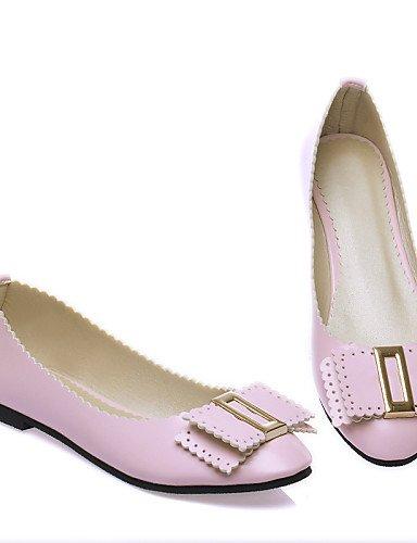 talón piel blue plano redonda rosa zapatos us5 de uk3 cn35 eu36 Beige blanco 5 Casual sintética de PDX mujer punta Flats negro azul 5 0FIYTw0q