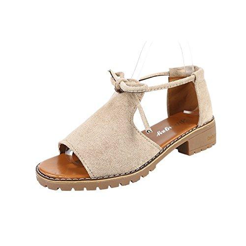 five zapatos Sandalias grueso hembra mariposas Thirty inferior de nudo estudiante de Donyyyy aRwqgq
