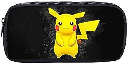Estuche De Lápices Pikachu Anime Tema De Película Bolsa De Bolígrafos Caja De Papelería Creativa Para Estudiantes Bolsa De Pokémon 8: Amazon.es: Oficina y papelería