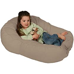 Leachco Pillay Plush Sling-Style Toddlers Bean Bag Lounger, Latte