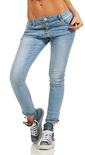 Bleu Jeans Fashion4Young Femme noir 36 Bleu XS UzdFYwdq
