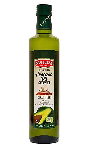 Garlic infused Avocado oil Kosher (16.9 Fl Oz) by San Lucas