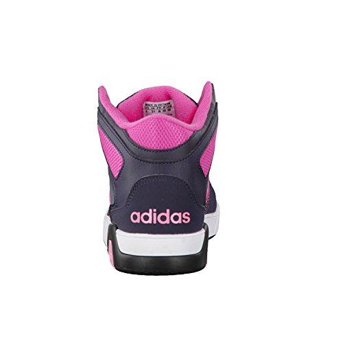 adidas Bb9tis Mid K, Zapatillas de Deporte para Niños Azul (Onix / Rosa / Negbas)