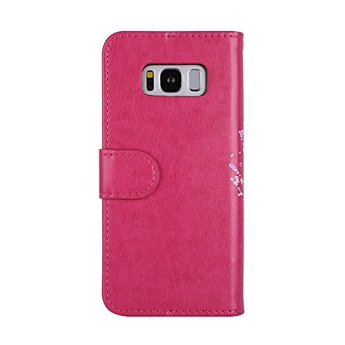 Aipyy Galaxy S8 Plus Case,[Card Slots] Wallet Folio Style PU Leather Glitter Powder Flamingo Emboss Flip Case Kickstand Cover & Magnetic Closure for Samsung Galaxy S8 Plus 6.2'' [Rose] by Aipyy (Image #2)