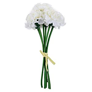 SODIAL Artificial Flower Carnations Fake Flower Party Wedding Bouquet Home Floral Decoration Mother Gift-purple 65