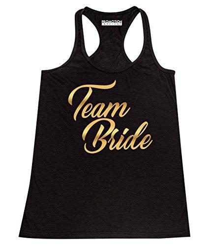 Promotion & Beyond Team Bride Wedding Bachelorette (Gold) Women's Tank Top, L, -