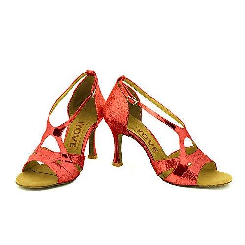 Indoor T Practice de la Sandalias Oro T Mujeres Latinas de Zapatos Salsa Profesión Baile Tango Performance Las Swing Jazz Oro Q de de rCRqwr