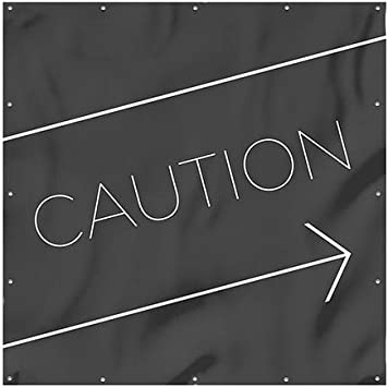 CGSignLab Caution 6x6 Basic Black Heavy-Duty Outdoor Vinyl Banner
