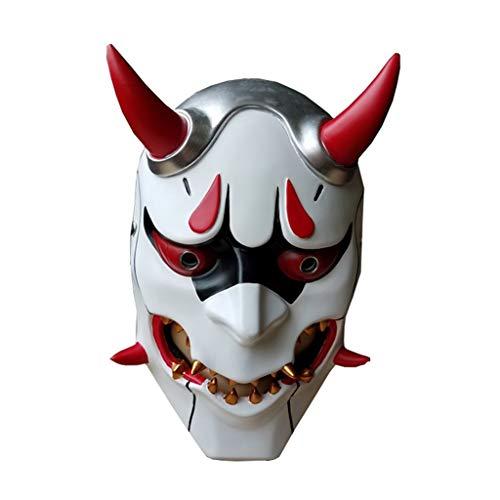 JGBHPNYX Mask Prajna Genji Pioneer Mask Horror Halloween Evil Spirit Resin Mask