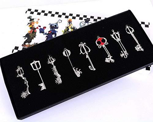 Kingdom hearts Sora keyblade 8 set Keychain Necklace Collection Box 2015 ()