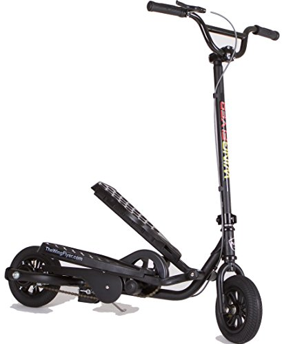 WingFlyer Elliptical Stepper Scooter Bike Z100 Black Max - Boys And Girls Ages 6-10 - Up To 150 Pounds