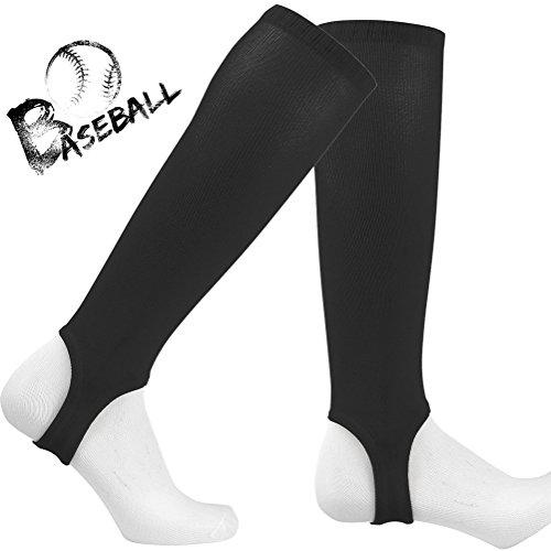 Black Baseball Stirrup - TZOE Baseball Stirrup Socks 4