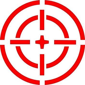 15 Centimetri. Firenze Logo Militare con mirino Adesivo prespaziato Senza Fondo in Vinile Colore Nero Lucido L.I