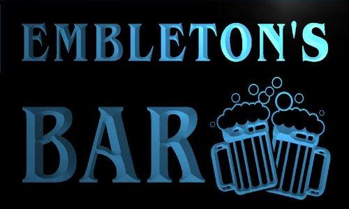 w049286-b-embleton-name-home-bar-pub-beer-mugs-cheers-neon-light-sign