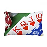 DIYthinker Flush Hearts Gambling Poker Photo Throw Lumbar Pillow Insert Cushion Cover Home Sofa Decor Gift