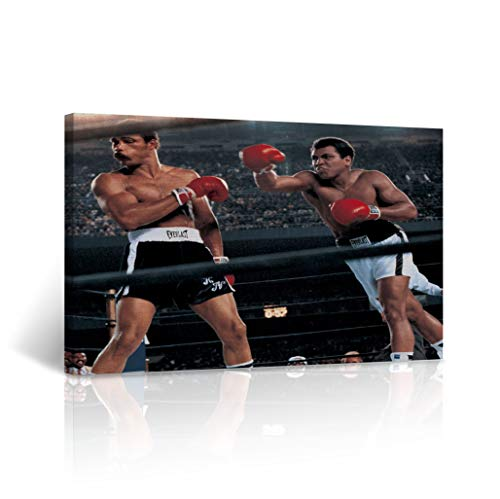 - Buy4Wall Muhammad Ali vs Ken Norton The Epic Battle Canvas Print Colored Picture Decorative Inspirational Wall Art Home Decor Artwork Stretched - Framed Ready to Hang -%100 Handmade in The USA 8x12