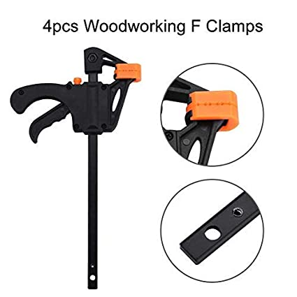 Bar Clamps F Woodworking Clamps Clamps Plastic Woodworking Quick Grip Clamps for Furniture Manufacturing DIY Hand Gadget Tool