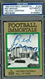 Red Grange Autograph 1985 Immortals Signed - PSA/DNA Certified - Baseball Slabbed Autographed Cards