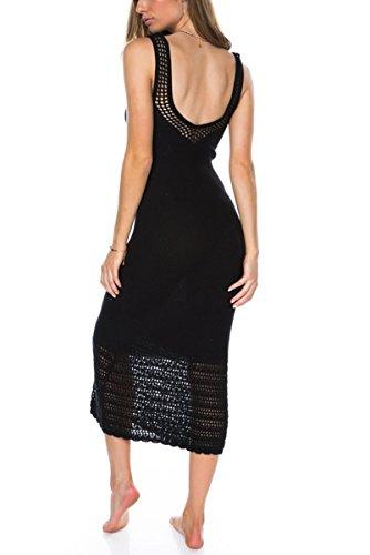 Paro en Bikini de de Cover Et pour Tricot Maillot Femme Bikini Up Plage Peach Robe Crochet Noir Bain L xI7qHzI
