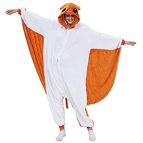Kigurumis Vliegende eekhoorn Dier Onesie Cartoon Dier Winter Pyjama Vrouwen Volwassen Cartoon Jumpsuit Kostuum Fleece…