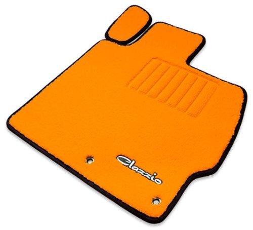 クラッツィオ ( Clazzio ) 【 フロアマット 】 ホンダ N-BOX / N-BOX カスタム 【1台分セット】 (オレンジ×オレンジ×ブラック) EH-0315-Y101-OOK B00TY70UAK ブラック ブラック