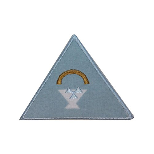 ID 3117 Triangle Badge Patch Craft Sew Emblem Embroidered Iron On Applique by Mia_you