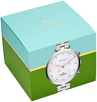 kate spade new york Women's 'Holland Slim Hybrid' Quartz Stainless Steel Casual Watch, Color:Silver-Toned (Model: KST23201)