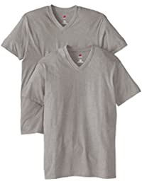 Men's Nano Premium Cotton V-Neck T-Shirt (Pack of 2)