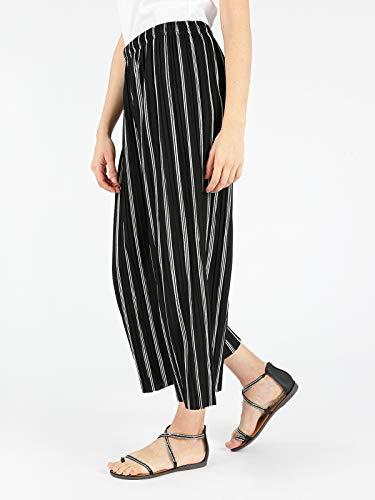 nero Pantaloni bianco Nero righe a culotte SOLADA qOwzpCq