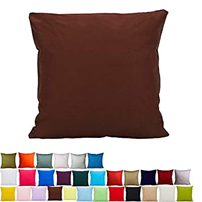 Alimama 2 Pcs Solid Color 100% Cotton Canvas Throw Pillow Covers/Pillow Shams