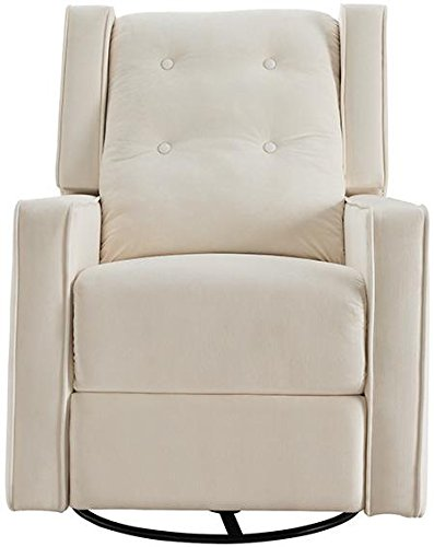 Naomi Home Odelia Swivel Gliding Rocker Recliner Cream/Microfiber by Naomi Home
