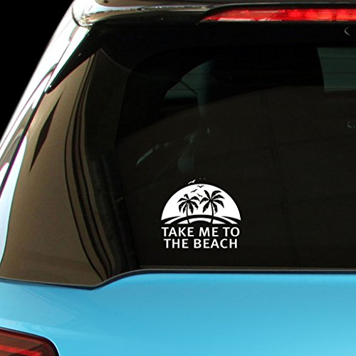 TAKE ME TO THE BEACH Car Laptop Wall Sticker