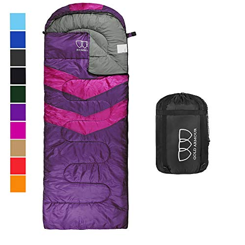 Gold Armour Sleeping Bag for Indoor and Outdoor Use