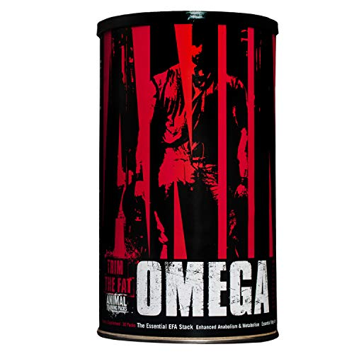 Animal Omega - Omega 3 6 Supplement - Fish Oil, Flaxseed Oil, Salmon Oil, Cod Liver, Herring, and more - 10 Sources of Omegas and EFAs - Full dose of EPA, DHA, CLA + Absorption Complex - 30 Day Pack
