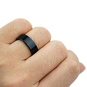 Xfunjoy 2 Pcs Different Size Strong Magnetic PK Ring (Black) with Video Turorial,Close Up Magic Tirck (19cm/21cm)
