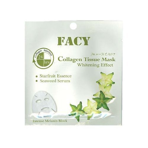 Facy Collagen Tissue Mask Whitening Effect 1 Pcs. 21 ml. (Pack 5) by jofalo