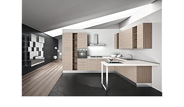 Cocina completa modular, de 375 cm de largo x 280 cm de ancho x 240 cm de alto con electrodomésticos art.va1118: Amazon.es: Hogar