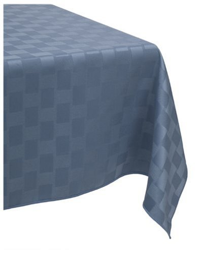 Bardwil Reflections Spill Proof Oblong / Rectangle Tablecloth, 60-Inch x 102-Inch, Stone Blue