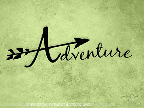 Adventure Decal | hiking decal | Arrow decal | Nature decal | Kayak Decal | Adventure Car Window Vinyl Sticker & Wall Decals ()