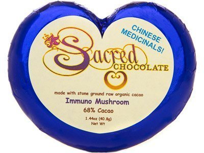 Sacred Chocolate Immuno Mushroom Chocolate 1.44 Oz (11 Pack) by Sacred Chocolate