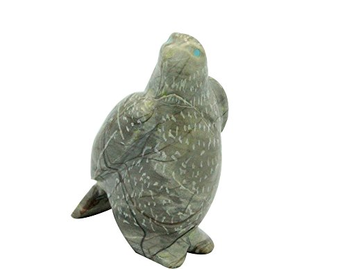 Fetish Picasso Marble - Perry Null Trading Hawk Bird Fetish, Picasso Marble, Turquoise, Zuni Made, 2.25