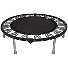 Needak Mini-trampoline Rebounder R04 non-folding Black for Heavier Users. Supports Weight of Over 300 pounds.