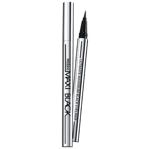 Mistine Maxi Black Eyeliner.a Pen, a Brush Made Freely Draw Water Resistant, Easy to Wash Off. (Pack of - Short Hill Mall Stores