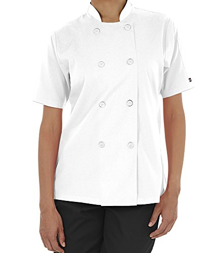 Women's Lightweight Short Sleeve Chef Coat (XS-3X, 3 Colors) (Medium, ()