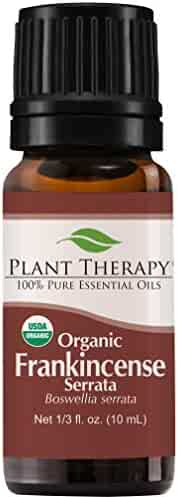 Plant Therapy Frankincense Serrata Organic Essential Oil | 100% Pure, USDA Certified Organic, Undiluted, Natural Aromatherapy, Therapeutic Grade | 10 milliliter (⅓ ounce)