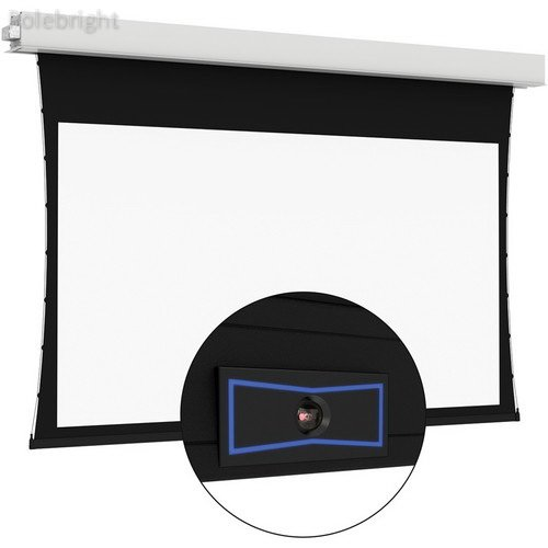 "ViewShare Tensioned Advantage Electrol 92"" HC Da-Mat Screen - Polebright Updated"