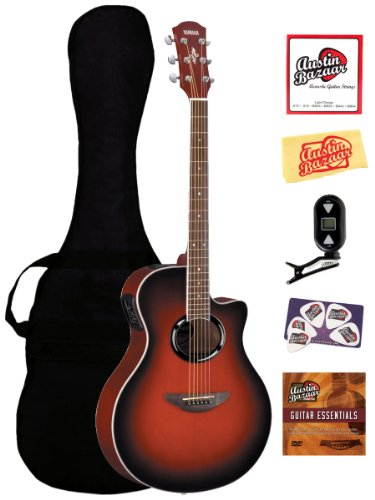 Yamaha Apx500iii Thin Line Acoustic Electric Guitar Bundle