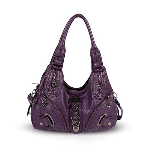 NICOLE & DORIS Hobo Shoulder Bag Large Totes Slouch New Handbags Stylish bags for women Crossbody Purple