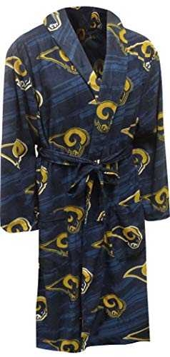 Concepts Sport Men's Los Angeles Rams Guys Super Soft Fleece Robe (One Size) ()