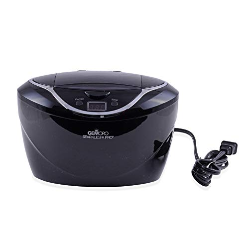 GEMORO Sparkle Spa Pro: Deluxe Personal Ultrasonic Jewelry Cleaner - Black